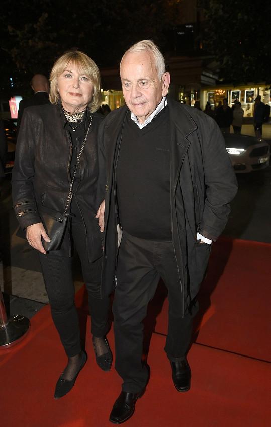 Herečka Eliška Balzerová s manželem Janem Balzerem
