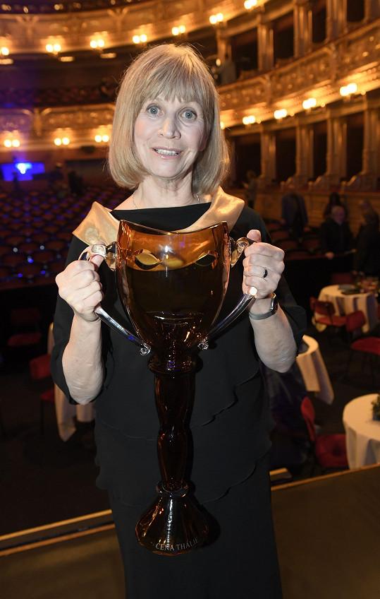 Jitka Molavcová dostala cenu za celoživotní muzikálové mistrovství.