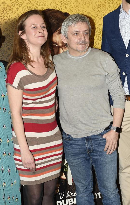Michal s filmovou manželkou Petrou Špalkovou