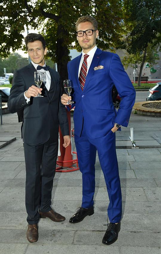 Vítěz soutěže Muž roku Vojta Urban (vpravo) a Jan Solfronk, který byl na druhém místě.