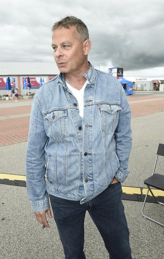 Filip Renč na výstavišti v Letňanech, kde se uvádí jeho muzikál Rebelové.