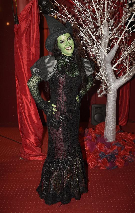 Markéta Pešková jako zelená Čarodějka Elphaba