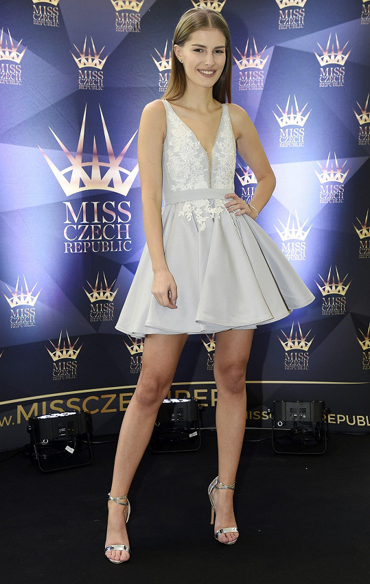Veronika na castingu nového ročníku Miss Czech Republic.