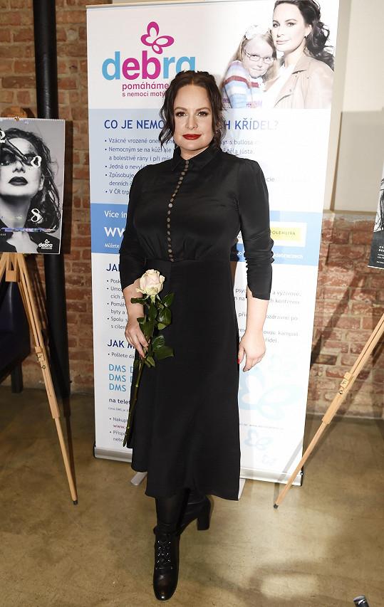 Jitka Čvančarová na křtu kalendáře
