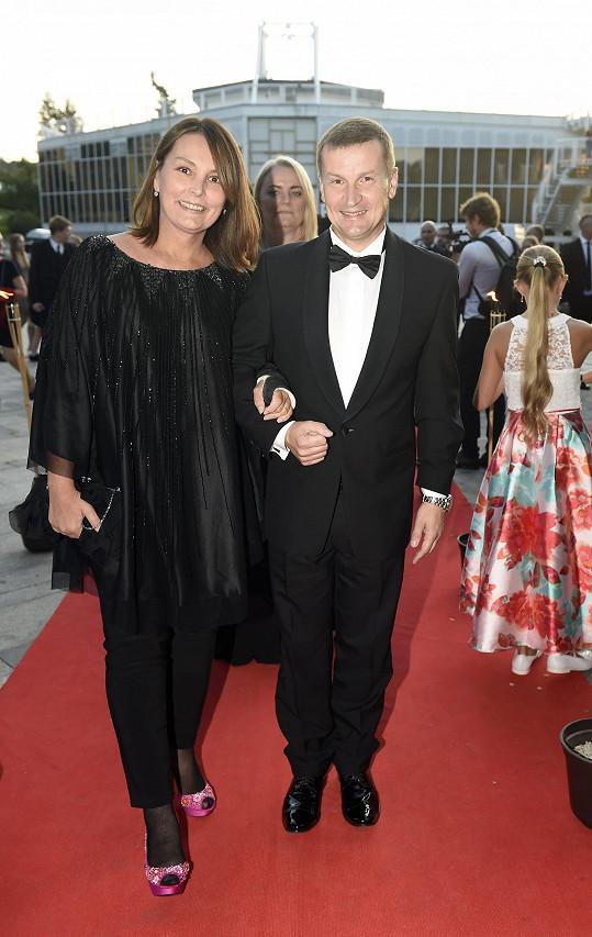 Režisér Radek Balaš s manželkou