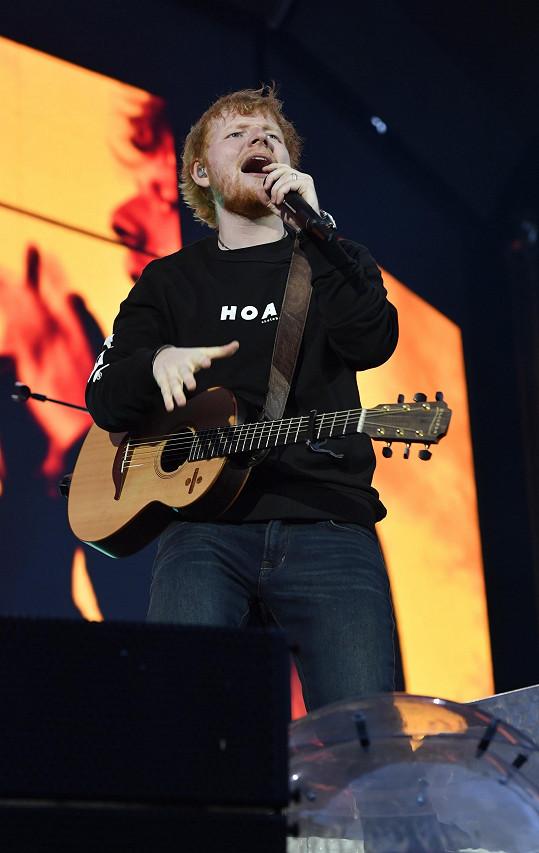 Ed Sheeran na pražském koncertě