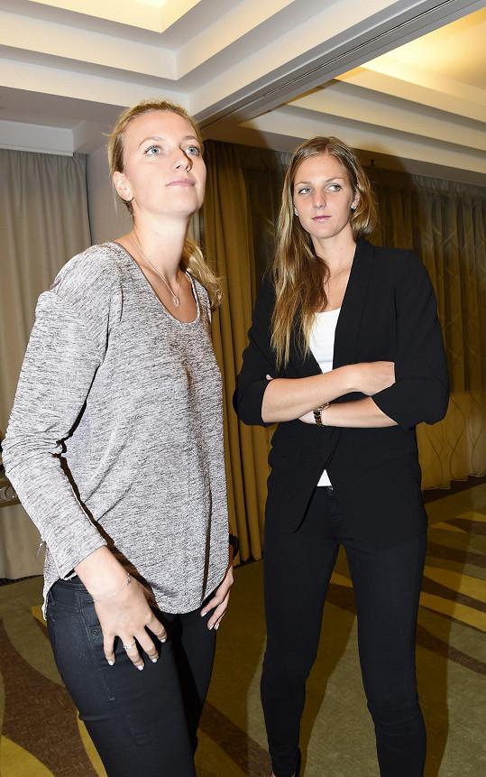 Petra Kvitová s kolegyní Karolínou Plíškovou