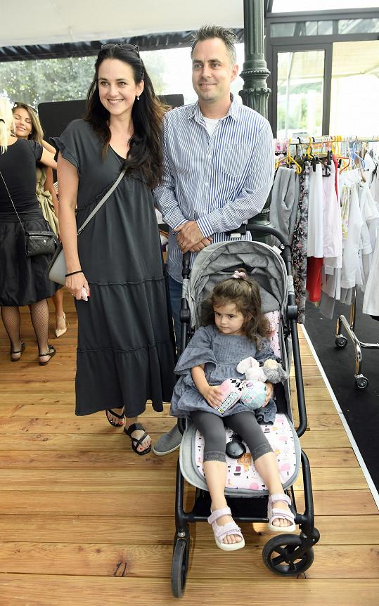 Libuška s manželem Zdeňkem a dcerou Elinkou
