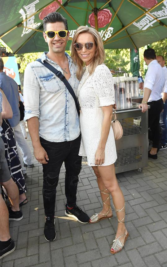 Na párty Primy s kolegou Petrem Vojnarem