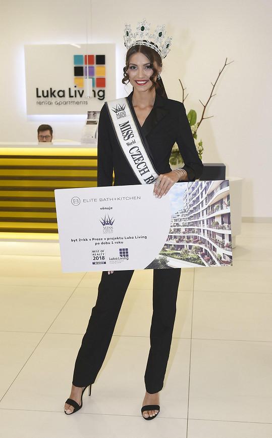 Karolína dostala roční pronájem bytu v rámci svého vítězství v Miss Czech Republic.