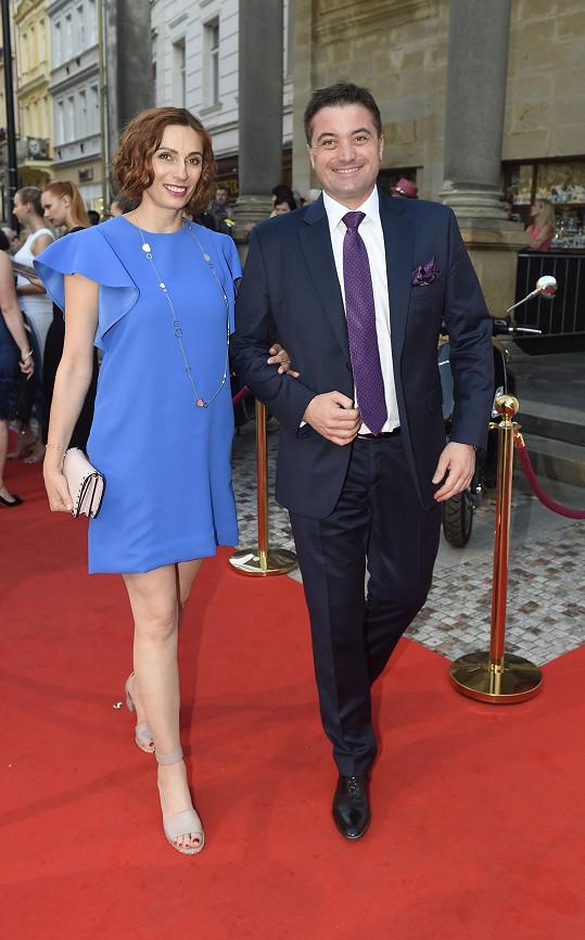 Slovenský miliardář Igor Rattaj s manželkou