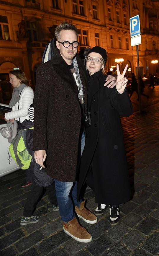 Jana Plodková s partnerem