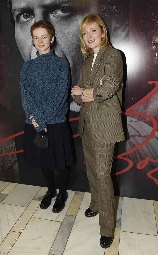 Kameníková s Annou Geislerovou, která si zahrála Němcovou ve starším věku.