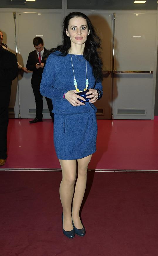 Markéta Procházková si vybrala modré šaty.