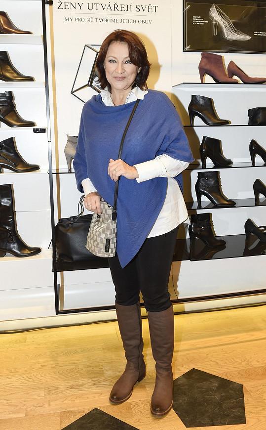 Zlata Adamovská na představení nové kolekce obuvi