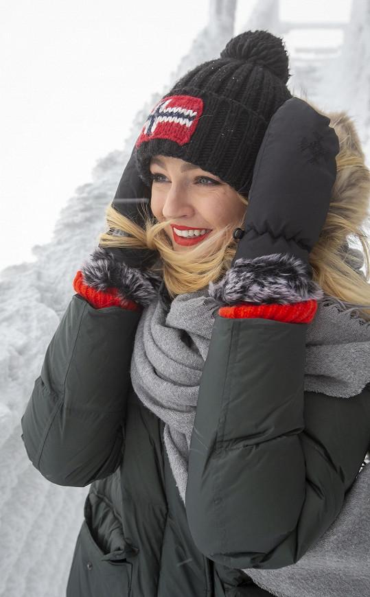 Tereza se vypravila i na výlet na vrchol Chopku, kde bylo minus 16 stupňů.