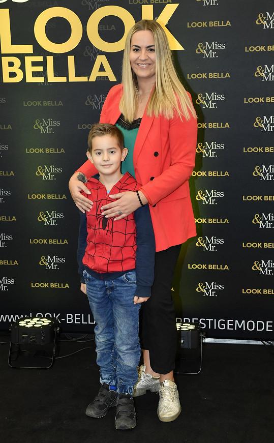 Leona se synem Nicolasem, kterého má s Markem Niessnerem.