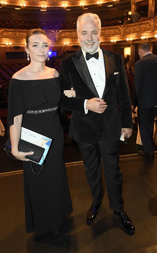 Šéf herecké asociace Ondřej Kepka s partnerkou.