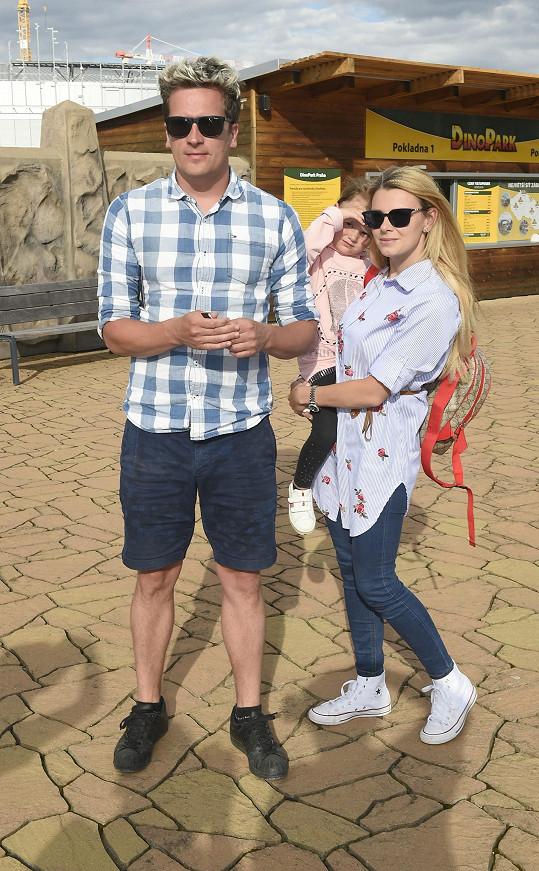 Společně vyrazili na akci na Harfě, kde měla vyžití i holčička.