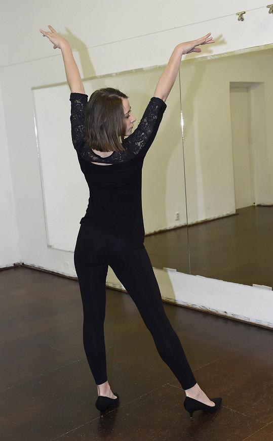 Trénink tanečního čísla.