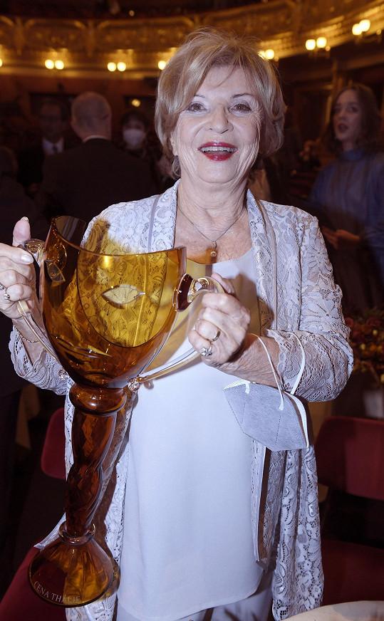 Oceněna za činohru byla také Libuše Švormová.