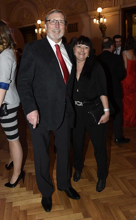 Ladislav Frej s partnerkou.