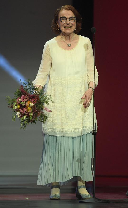 Iva Janžurová v Národním divadle, kde se o víkendu předávaly ceny za celoživotní dílo.