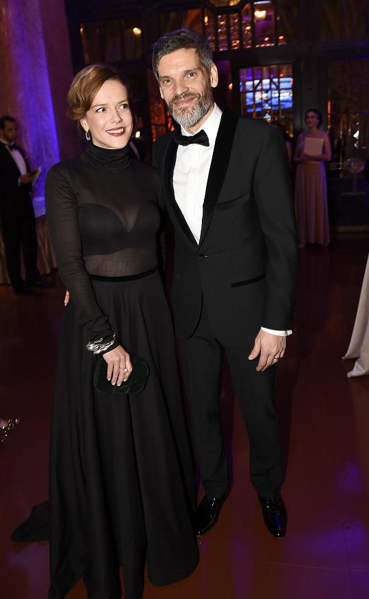 Andrea s manželem Mikulášem Růžičkou. Mají spolu syna.