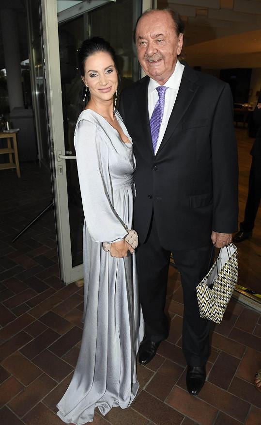 Andrea s producentem Františkem Janečkem.