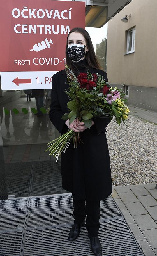 Outfit tentokrát Kateřina zvolila černý.