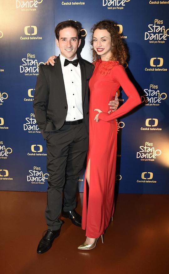 Na akci nechyběla ani jeho taneční partnerka Natálie Otáhalová.