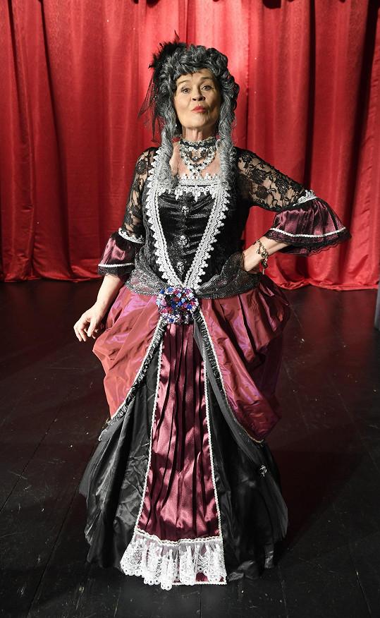 Hana Gregorová v kostýmu chůvy