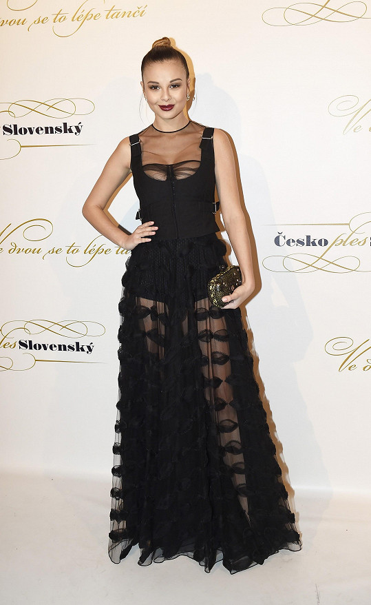 Monika Bagárová v luxusní róbě Dior