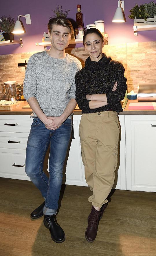 Eva se svým seriálovým partnerem Markem Lamborou