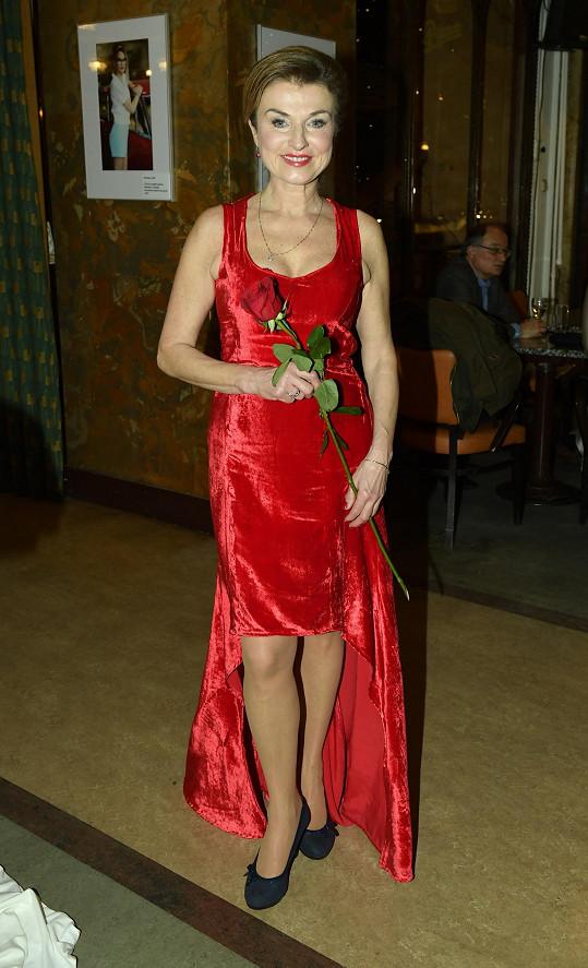 Simona Prasková na premiéře Ceny za štěstí