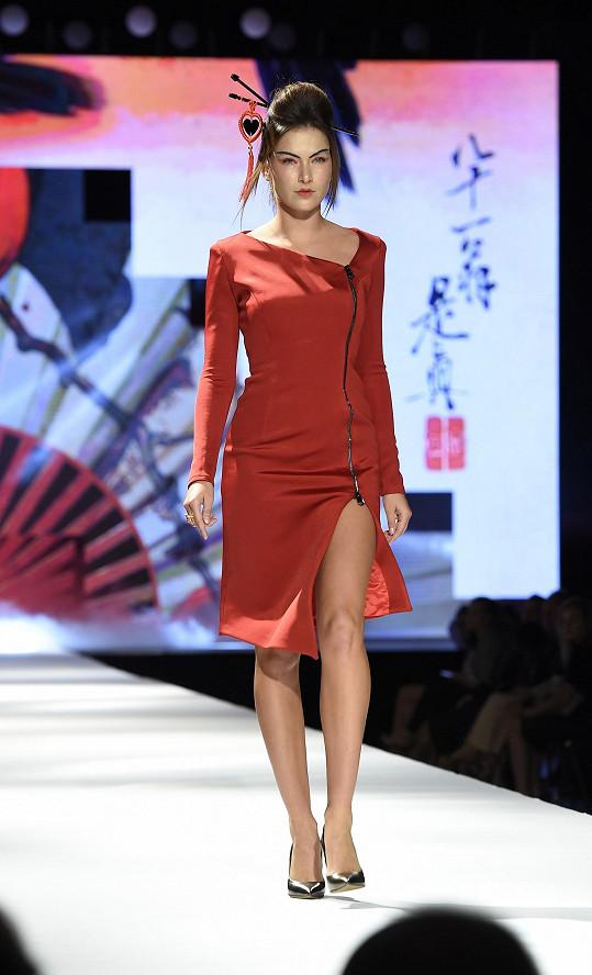 Andrea na módní show Natali Ruden