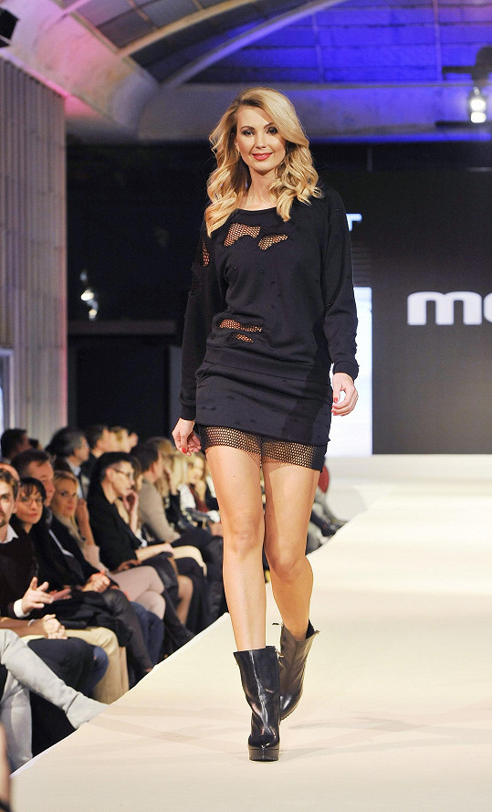 Sandra v roli modelky