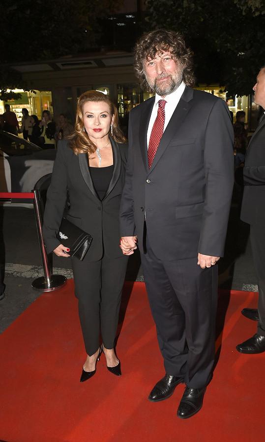 Herečka Dana Morávková s manželem, skladatelem Petrem Maláskem