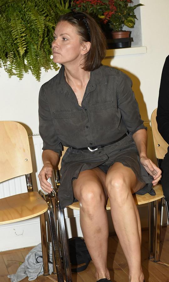 Klára Melíšková ukázala kalhotky.