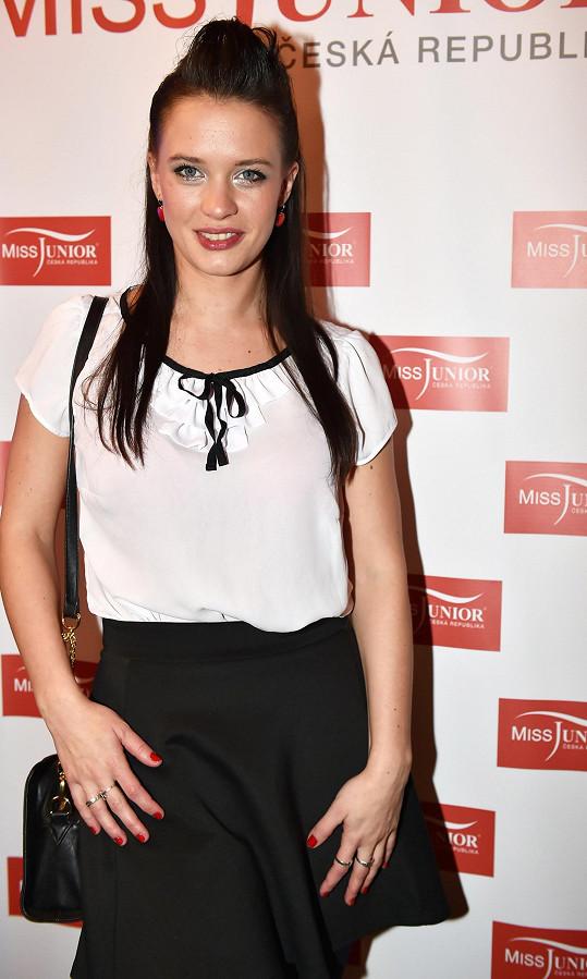 Kristýna byla v porotě Miss Junior.