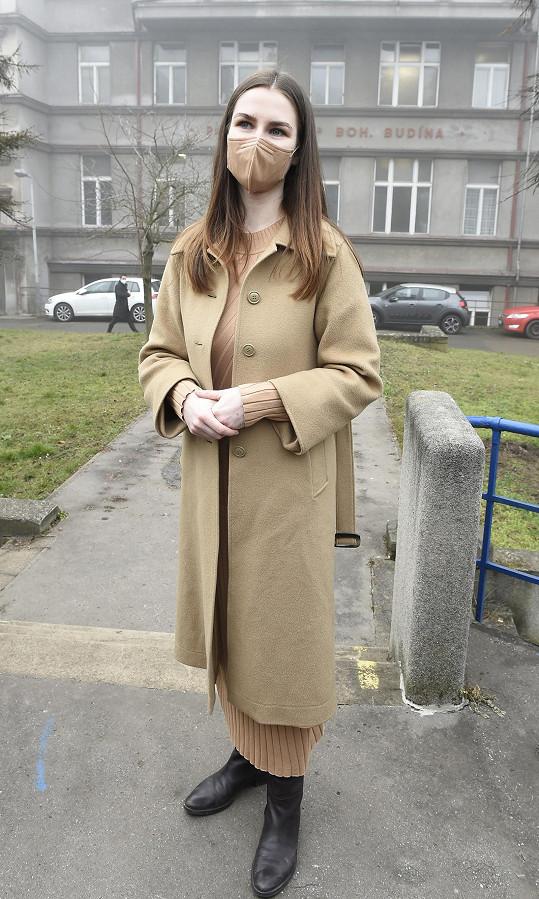 Kateřina Zemanová ve Fakultní nemocnici Bulovka