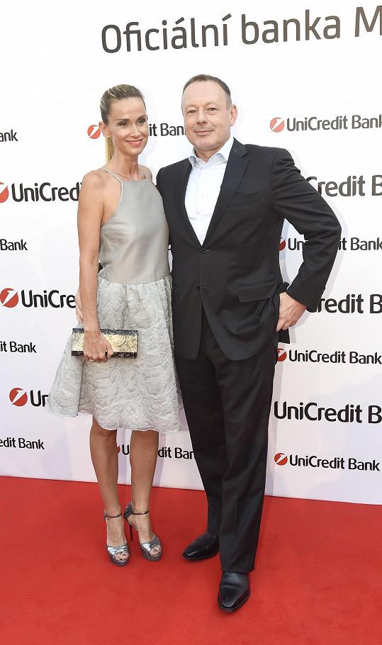 Michal Dvořák s manželkou Lucií