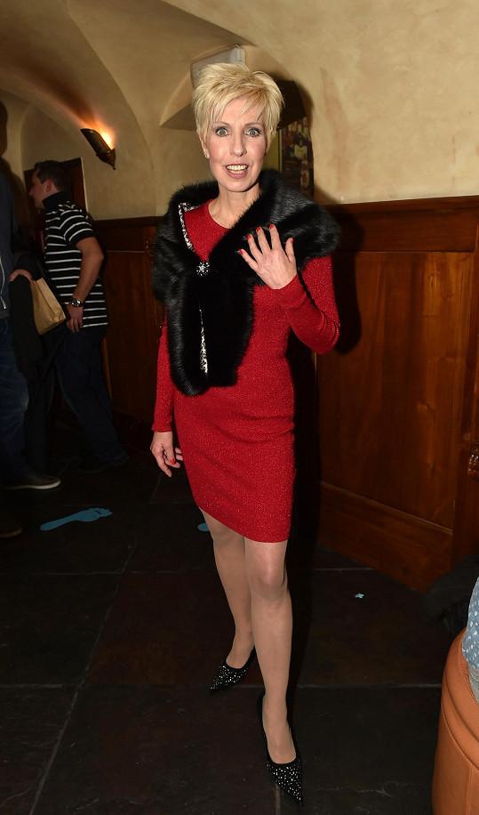 Marcela Březinová na párty