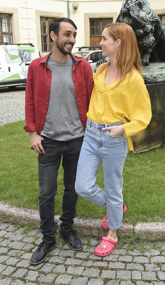 Hana Vagnerová s Dominiquem Jannem natáčí nový film Ztraceni v Ráji.