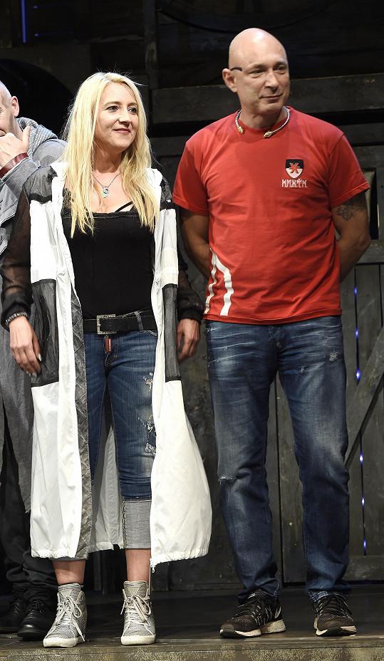 S manželkou Mirjam v divadle Kalich