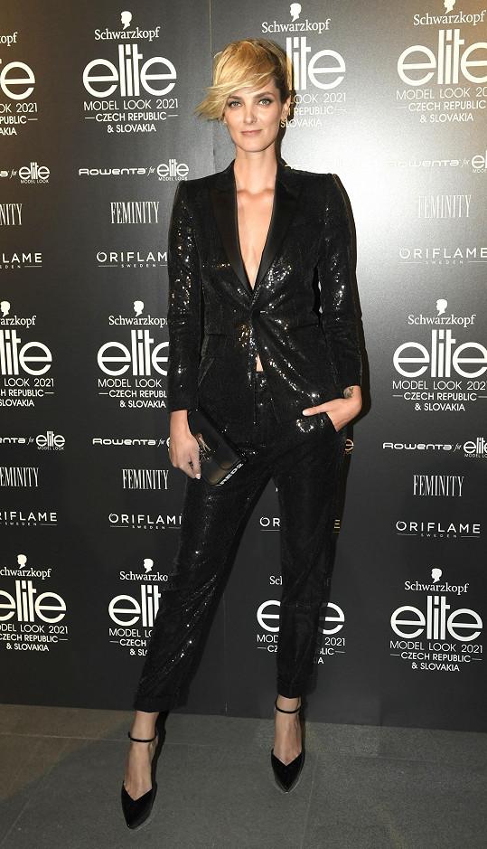 Denisa Dvořáková oblékla kalhotový model Dsquared2.