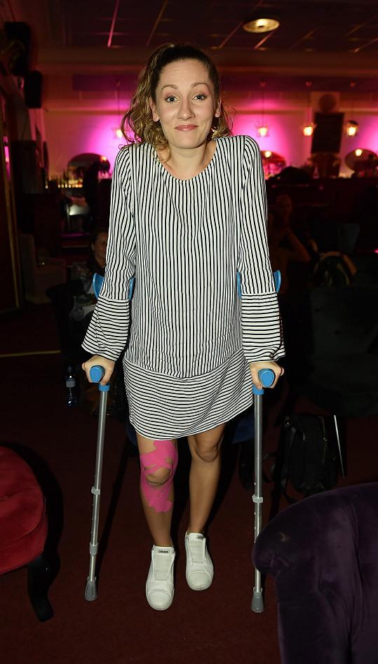 Andrea Gabrišová měla velké trable s nohou.
