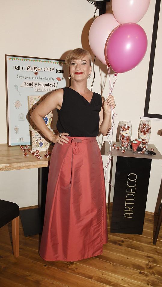 Sandra na párty, kde se představoval nový lifestylový pořad Pralinky.