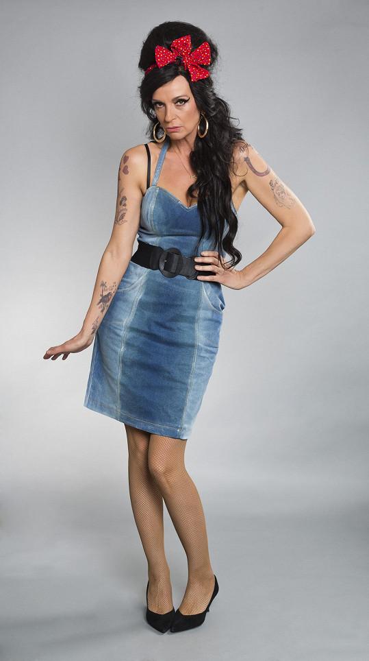 Takto vypadala jako Amy Winehouse Ivana Chýlková.