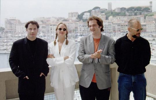 V roce 1994 přijela Uma Thurman do Cannes s Quentinem Tarantinem, Brucem Willisem a Johnem Travoltou.